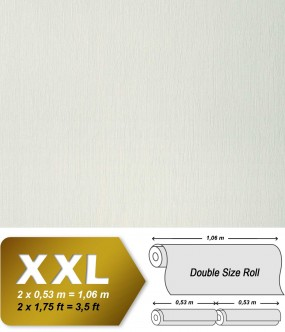 EDEM 901-10 plain wallpaper non-woven embossed texture fabric textile look oyster white cream | 10,65 sqm (114 sq ft)