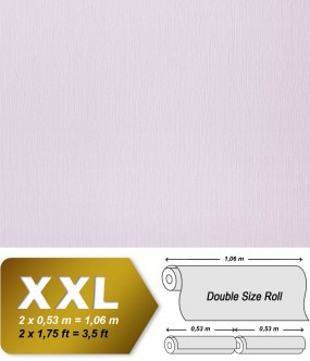 EDEM 901-17 plain wallpaper non-woven embossed texture fabric textile look pastel lilac | 10,65 sqm (114 sq ft) XXL
