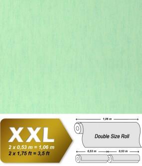 Plain wallpaper non-woven EDEM 908-04 luxury vintage fabric textile look light green pastel mint | 10,65 sqm (114 sq ft)