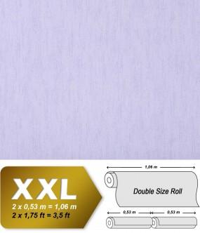 Plain wallpaper non-woven EDEM 908-09 luxury vintage fabric textile look pastel light violet | 10,65 sqm (114 sq ft)