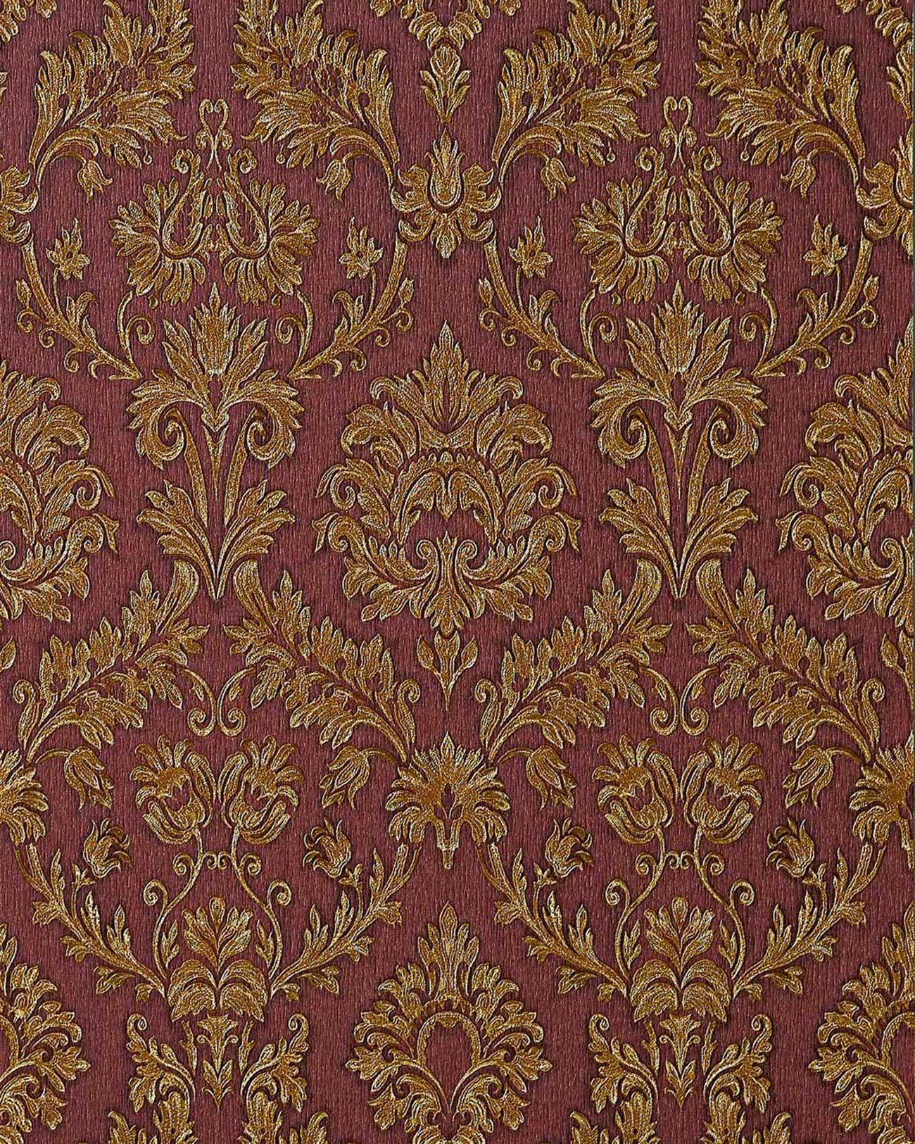 Barock Tapeten Bestseller : Red and Gold Damask Wallpaper