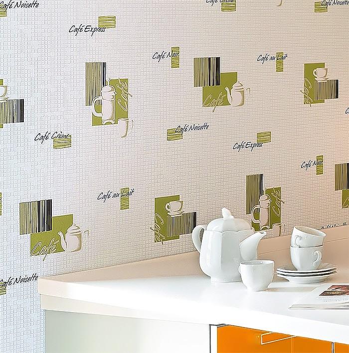 Witte Gyproc Badkamer ~ Behangpapier keuken en badkamer EDEM 062 25 behang koffie design tegel