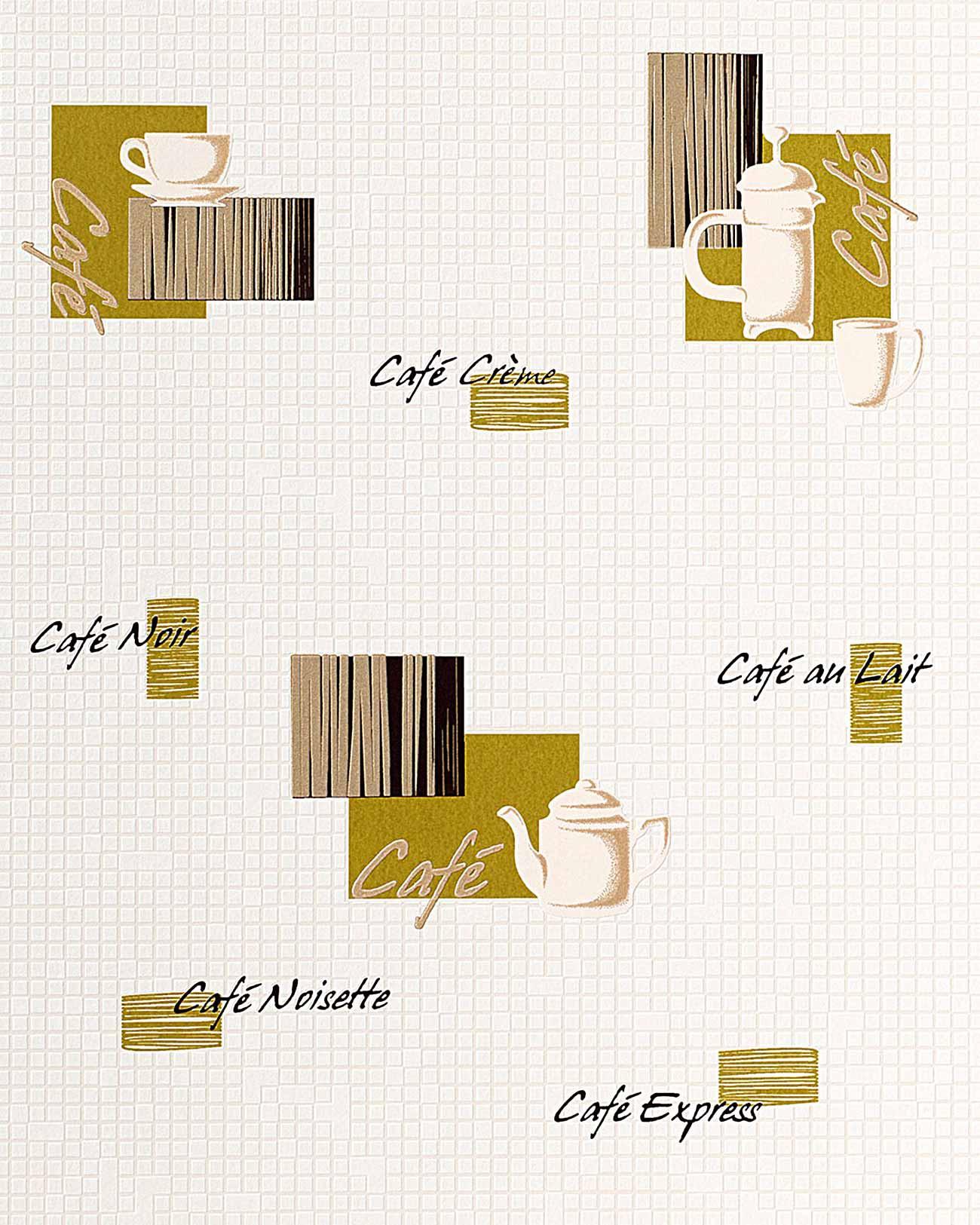 Behangpapier keuken en badkamer edem 062 25 behang koffie design tegel moza ek wit cr me oljf - Behang zwart en goud ...