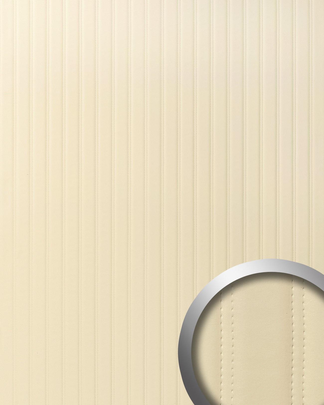 Wandpaneel gecapitonneerd leer strepen design muurpaneel wallface 18602 lounge wandbekleding - Muurpaneel gevuld ...