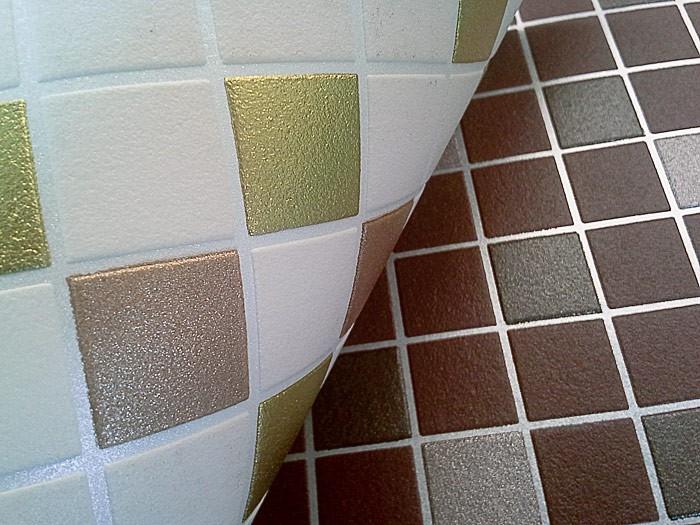 Witte Gyproc Badkamer ~   vinylbehang keuken badkamer beige goudkleurig koper zilver ? Bild 3