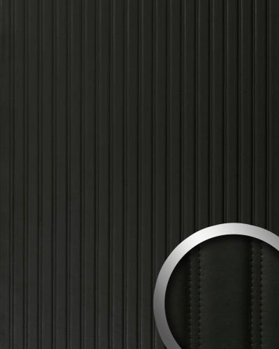 Wandpaneel gecapitonneerd leer strepen design muurpaneel wallface 18604 lounge wandbekleding - Muurpaneel gevuld ...