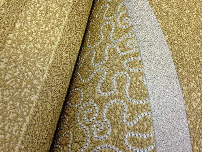 Vinylbehang structuur behang EDEM 1015 15 reli u00ebf behang gestreept olijf groen goud groen