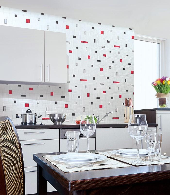 Behang Voor Badkamer ~ Tegel behang voor keuken en badkamer EDEM 584 20 wit grijs zwart