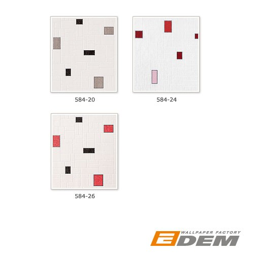 Zwart Wit Behang Keuken : Red Black and White Vinyl Wall Tiles