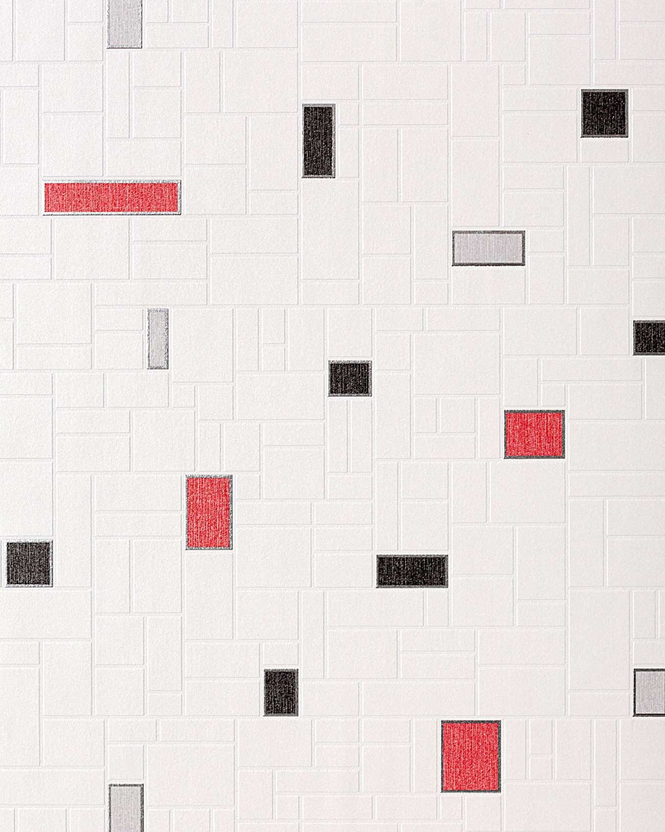 Vinyl Behang Keuken : Black White Silver Mosaic Tile