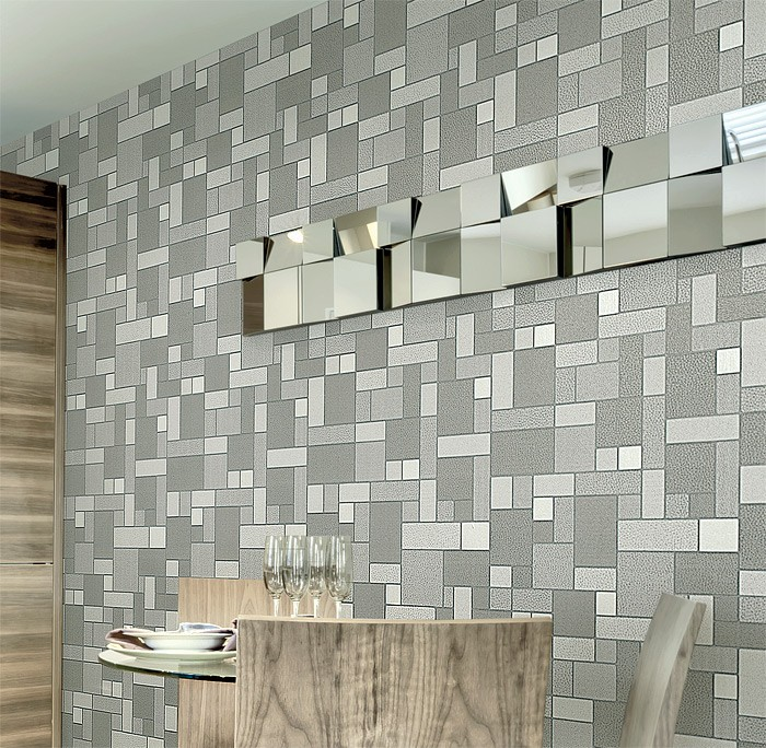 Tegel Behang Keuken : Vinyl Tile Wall Covering