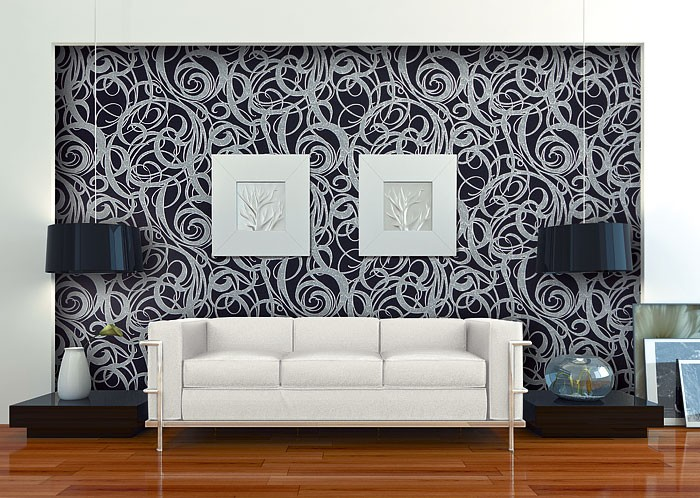Vliesbehang XXL EDEM 971 39 abstract patroon structuurbehang reli u00ebf behang hoogwaardig zwart
