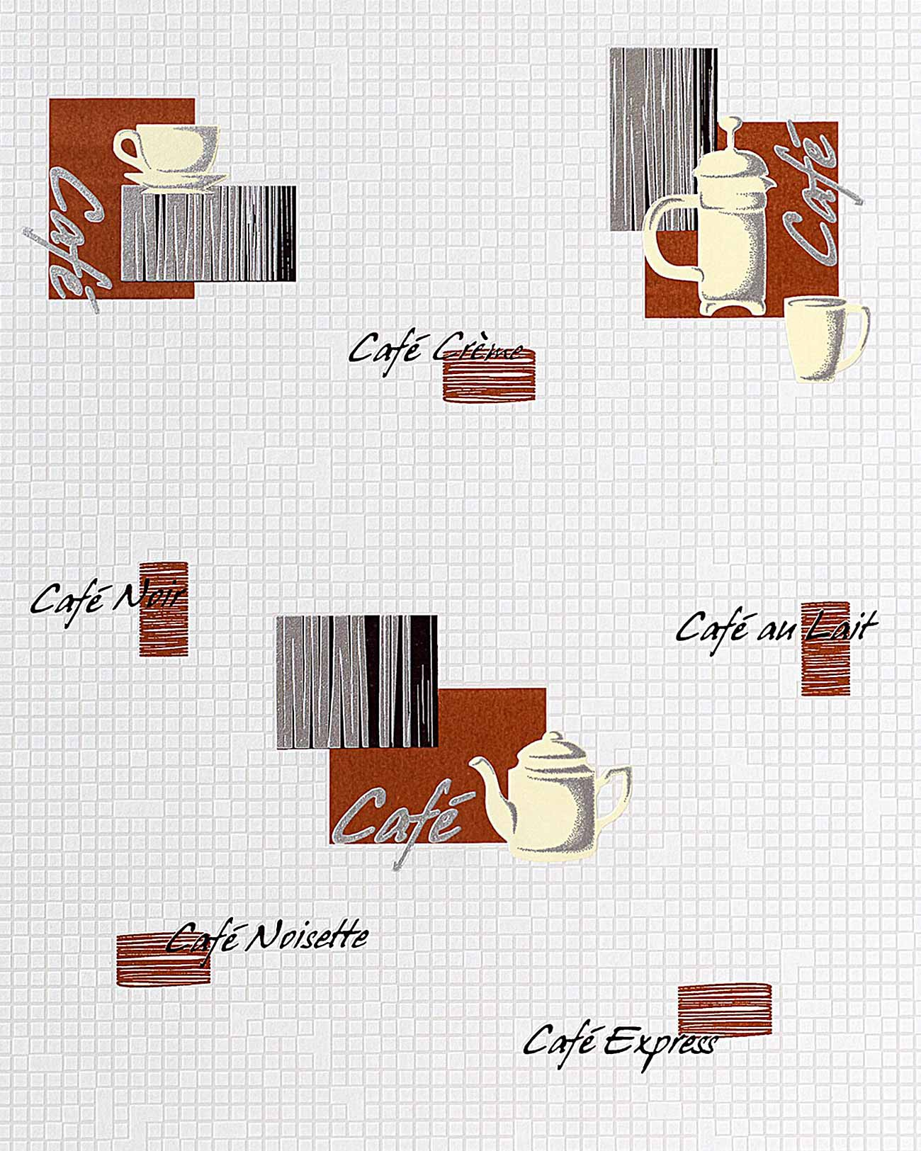 Vinyl Behang Keuken : Red White Coffee Designs