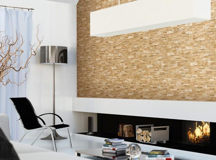 XXL Steen behang natuursteen EDEM 918 33 Vliesbehang muur optiek in reli u00ebf zand beige   10,65 qm