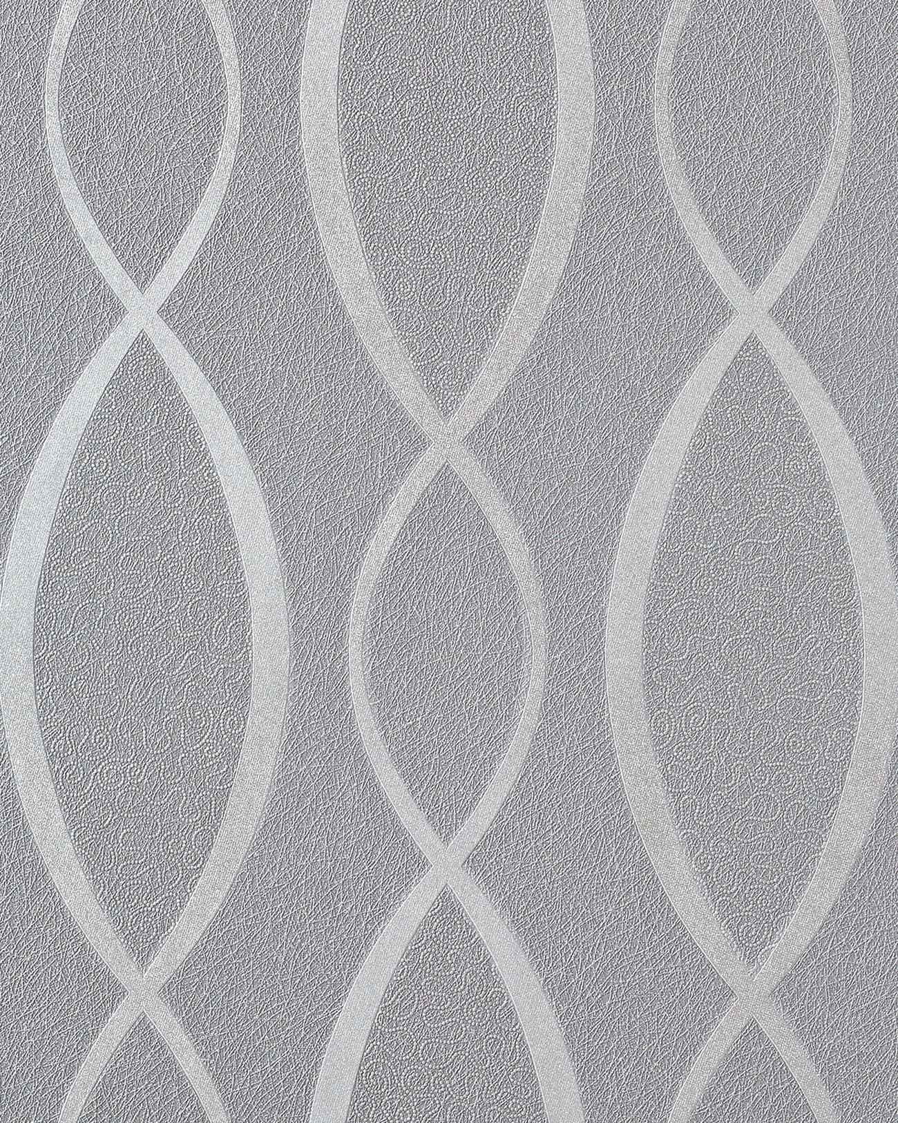 Design behangpapier vinyl abstract strepen edem 1018 16 motief golven patroon retro behang jaren - Grijs behang ...
